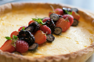 Lemon tart catering in Gloucestershire