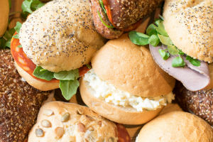 Filled rolls buffet menu catering in Gloucestershire