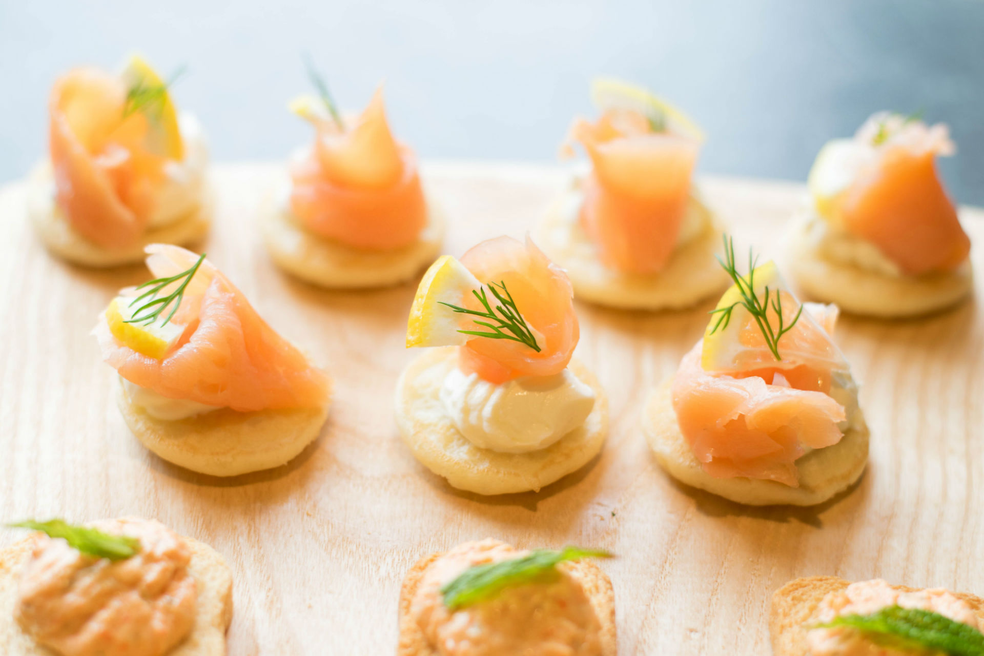 Salmon starters from Aureum Catering in Gloucestershire